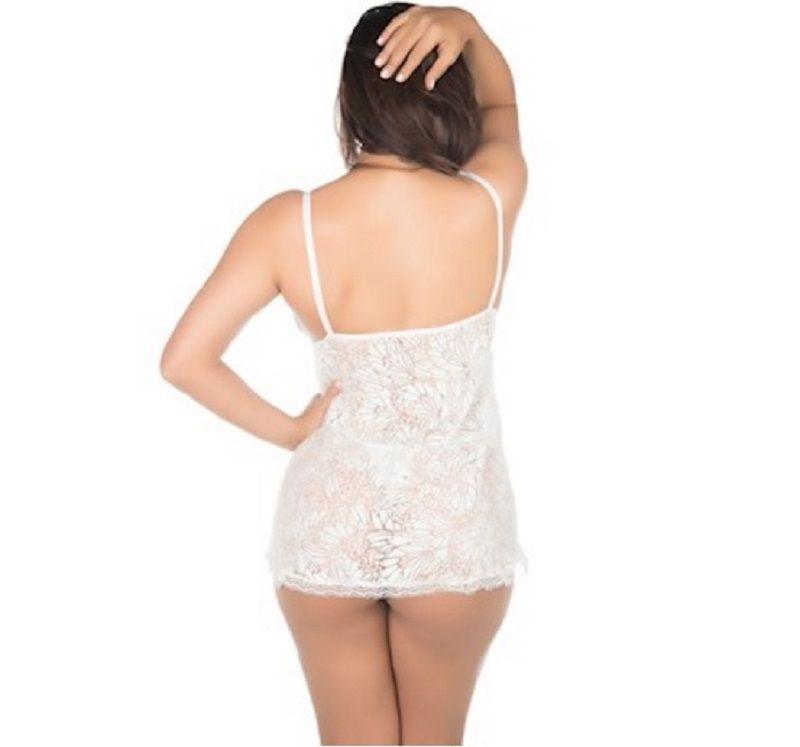 Camisola Branca Renda Aberta