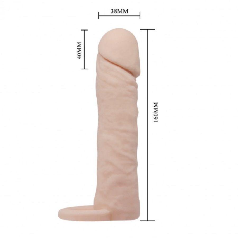 Capa Peniana Sleeve Medium 16 cm Com Anel para Escotro- PrettyLove