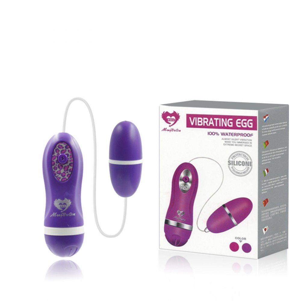 Cápsula Vibratória EGG com Controle - Roxa