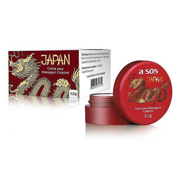 Creme Térmico e Excitante Japan 5,5g - A Sós