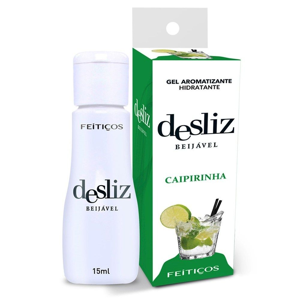 Gel Beijavél Hidratante Caipirinha Desliz  15 ml - Feitiços