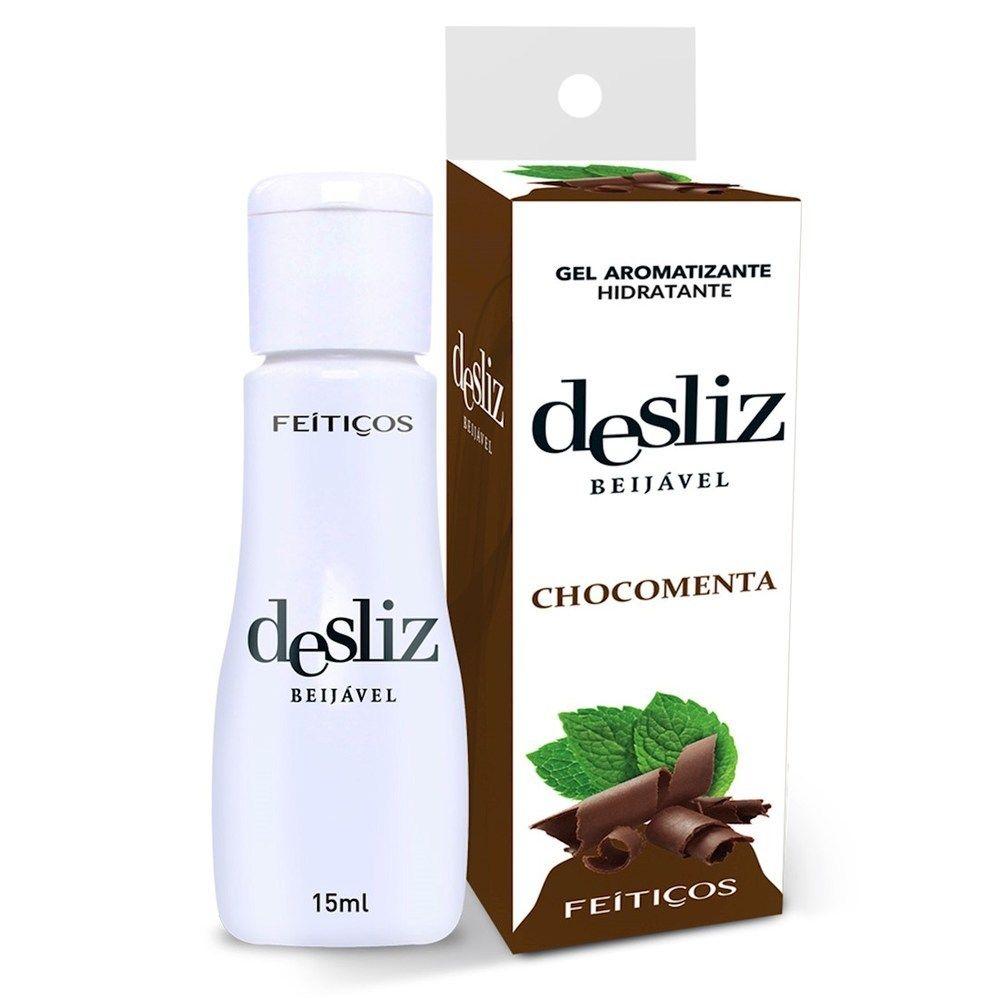 Gel Beijavél Hidratante Chocomenta Desliz  15 ml - Feitiços