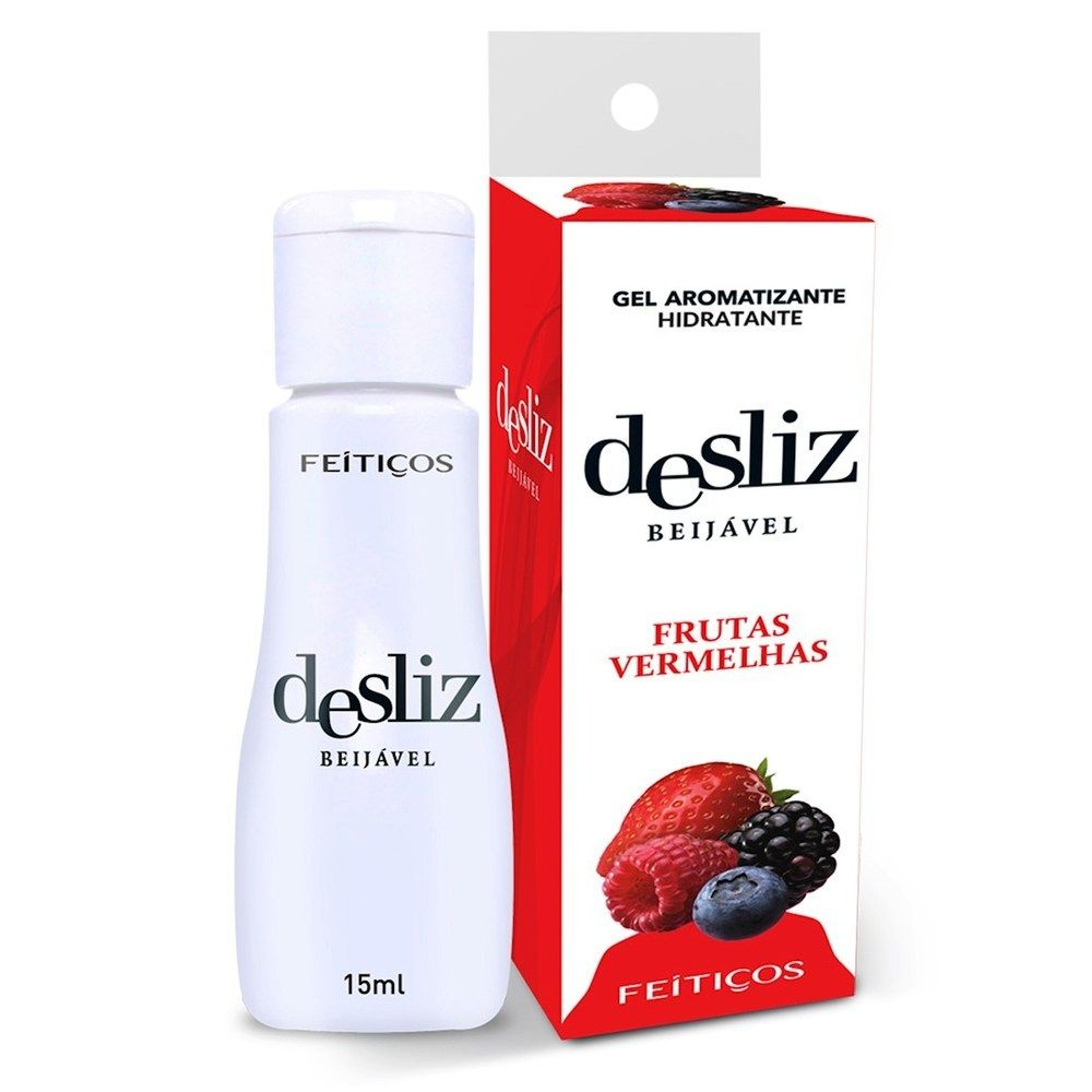 Gel Beijavél Hidratante Frutas Vermelhas Desliz  15 ml - Feitiços