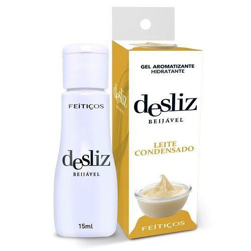 Gel Beijavél Hidratante Leite Condensado Desliz  15 ml - Feitiços