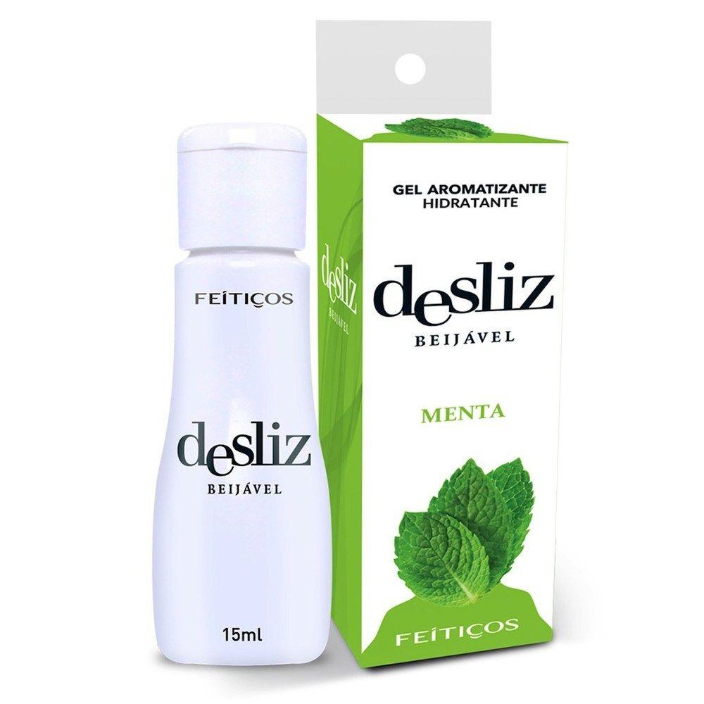 Gel Beijavél Hidratante Menta Desliz  15 ml - Feitiços