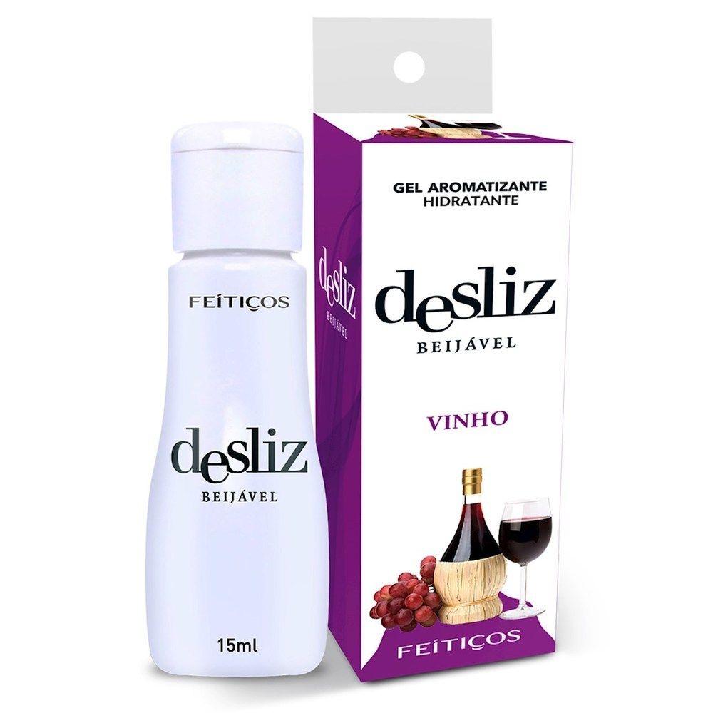 Gel Beijavél Hidratante Vinho Desliz  15 ml - Feitiços