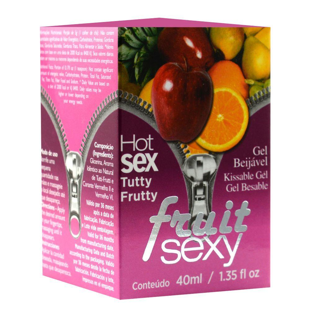 Gel Comestível Fruit Sexy Tutty Frutty 40ml - Intt