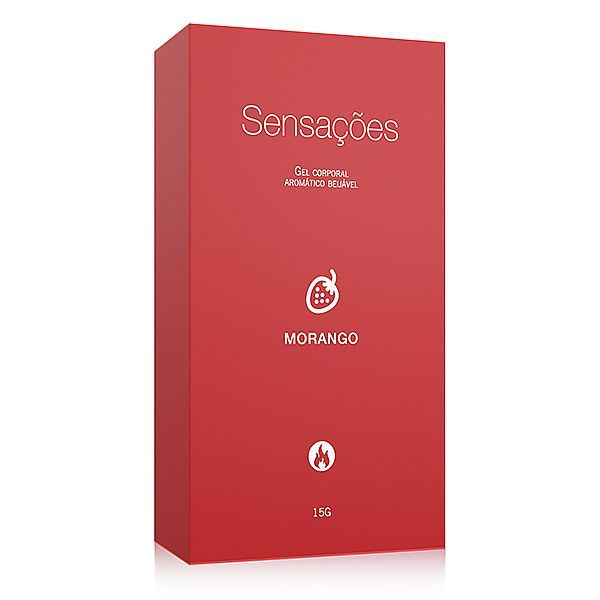 Gel Comestível Sensações Hot Sabor Morango 15G - A Sós