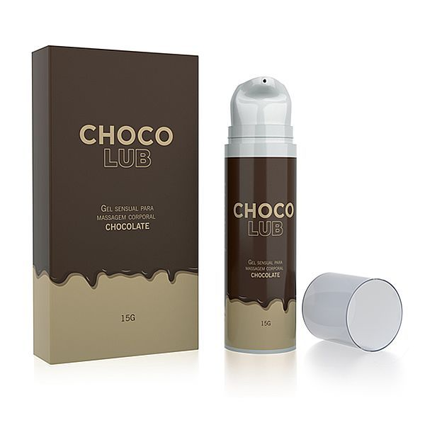 Gel Lubrificante Beijável Choco Lub 15g - A Sós