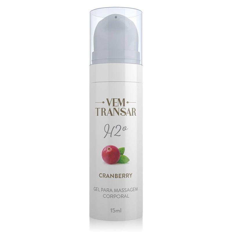 Gel Lubrificante H2O Cranberry - Vem Transar