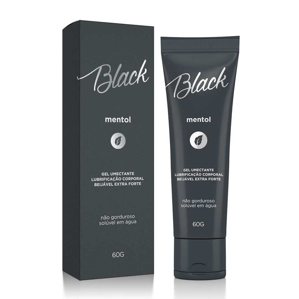 Gel Lubrificante Lubrisex Black Mentol Extra Forte - A Sós