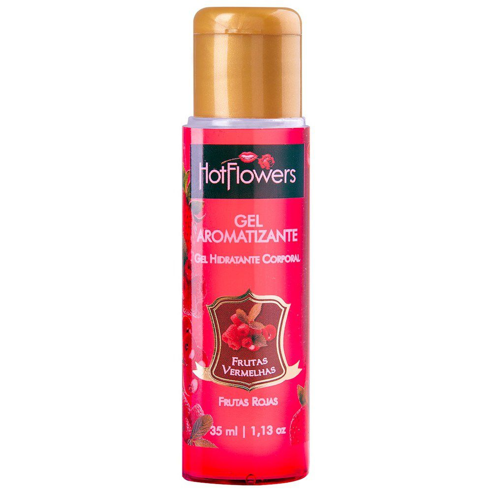 Hot Gel Comestível Hot Flowers Sabor Frutas Vermelhas 35 ml