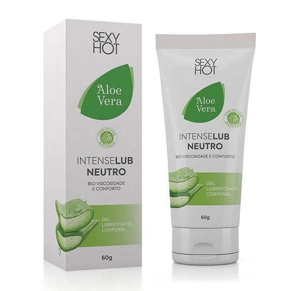 Intense Lub Neutro Aloe Vera Bioviscosidade e Conforto - Sexy Hot