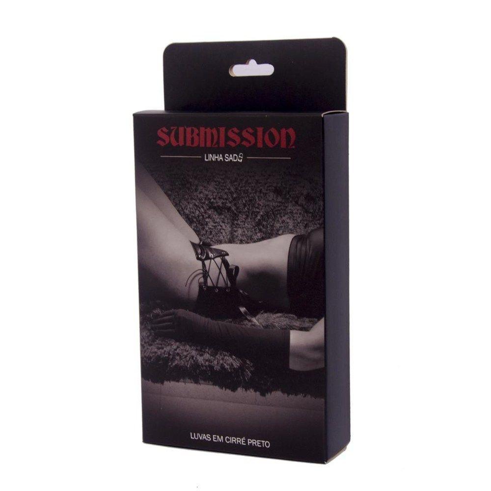 Luvas em Cirré Black Sunmission Preta - Sexy Fantasy