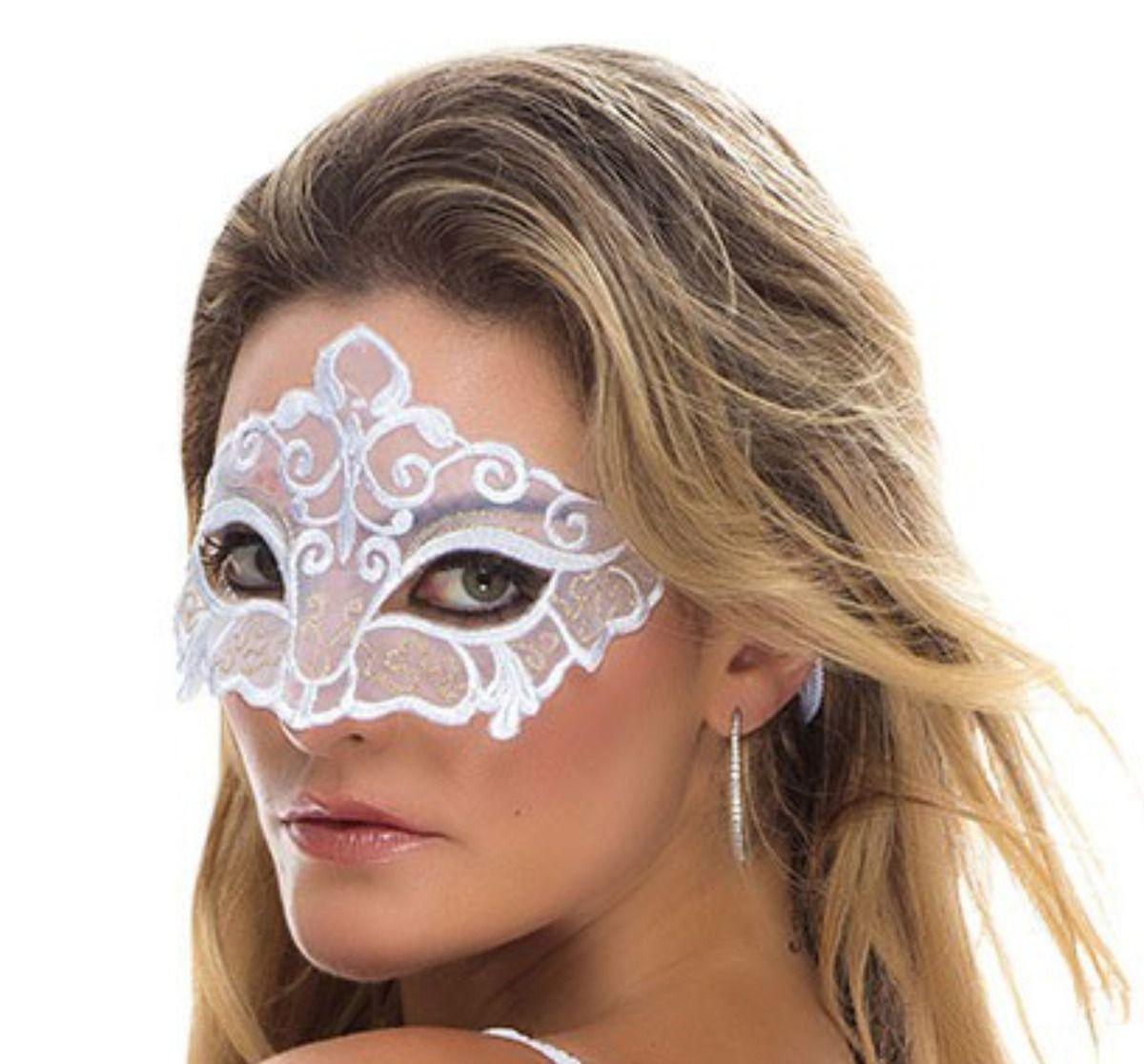 Máscara Sensual Lavinia Branca - Sapeka