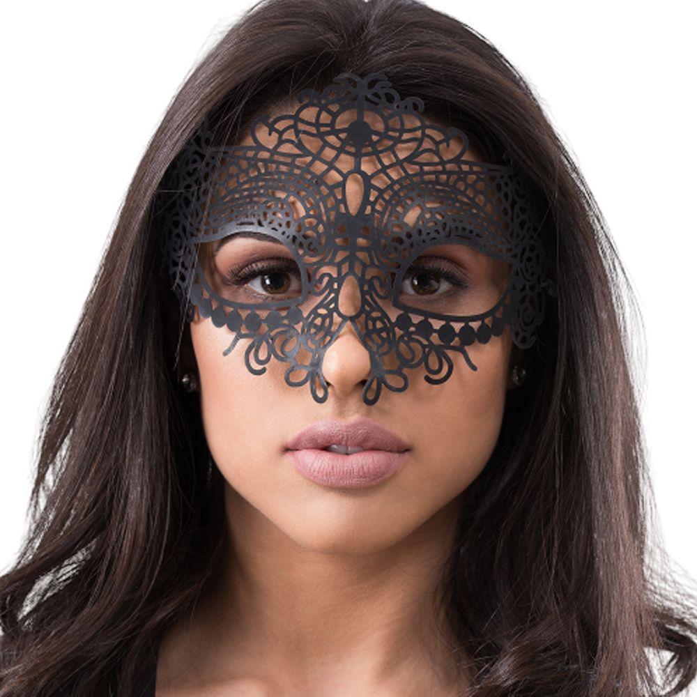 Máscara Sensual Poder e Romance Preta - Sexy Fantasy