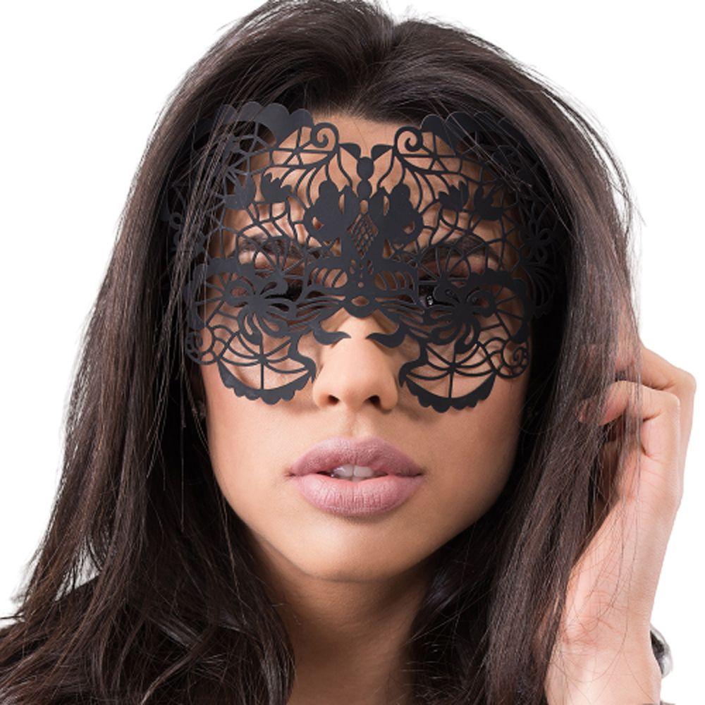 Máscara Sensual Poder e Sedução Preta - Sexy Fantasy