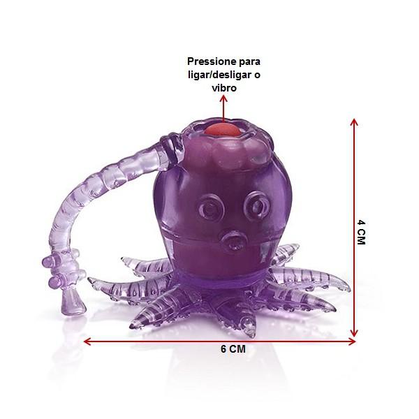 Mini Vibrador Octopussy Lilás - A Sós