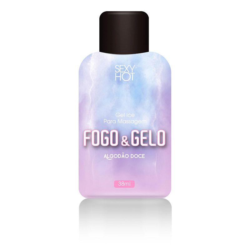 Óleo de  Massagem Beijável Fogo & Gelo - Algodão Doce- 38gr- Sexy Hot
