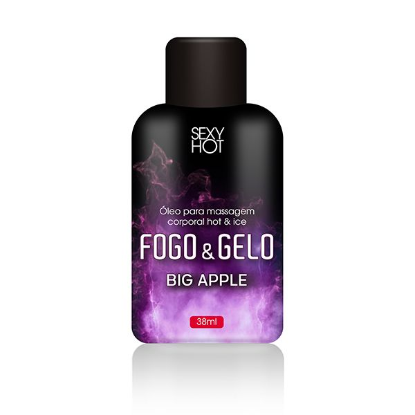 Óleo de Massagem Beijável Fogo e Gelo - Big Apple  38gr- Sexy Hot