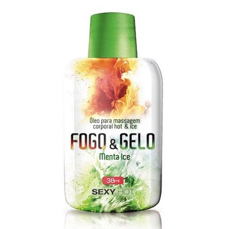 Óleo de  Massagem Beijável Fogo & Gelo - Menta Ice- 38gr- Sexy Hot