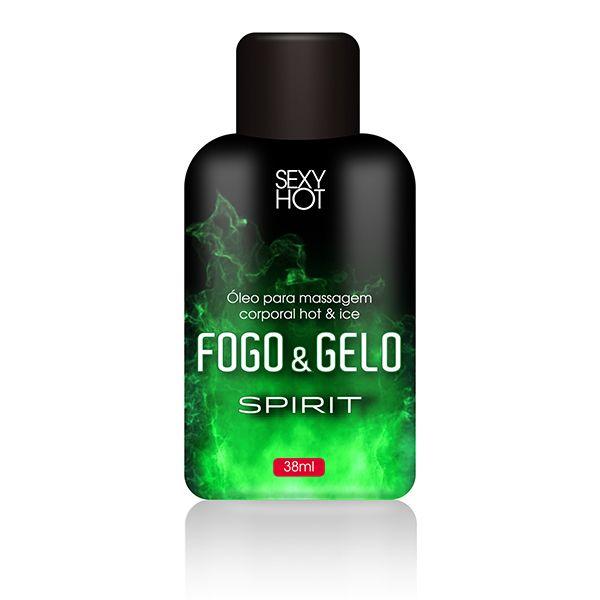 Óleo de Massagem Beijável Fogo e Gelo - Spirit  38gr- Sexy Hot