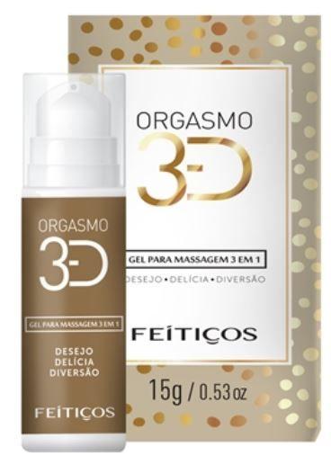 Orgasmo 3D Gel de Massagem 3x1  - Feitiços