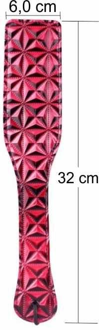 Palmatória Luxo em Vinil com Relevo Brilhante - Vermelha