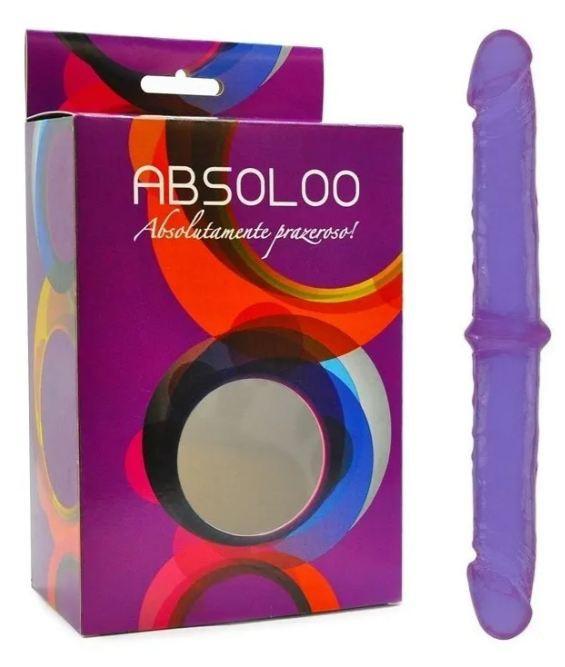 Pênis Duplo Lilás 34 cm com Glandes Avantajadas - Absoloo