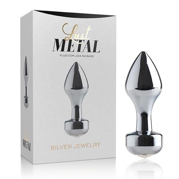 Plug Anal Lust Metal Silver Jewelry Branco - Adão & Eva