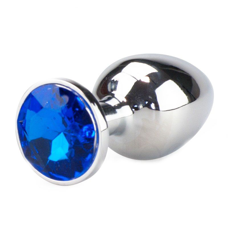 Plug Anal Luxo em Metal - Pedra Azul