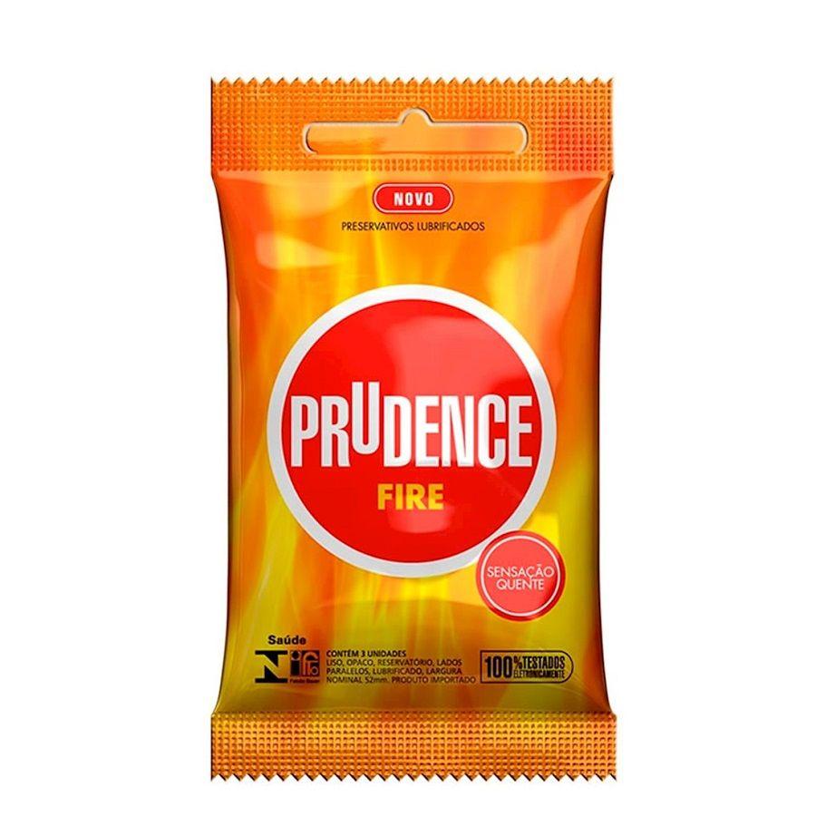 Preservativo Fire com 3 unidades - Prudence