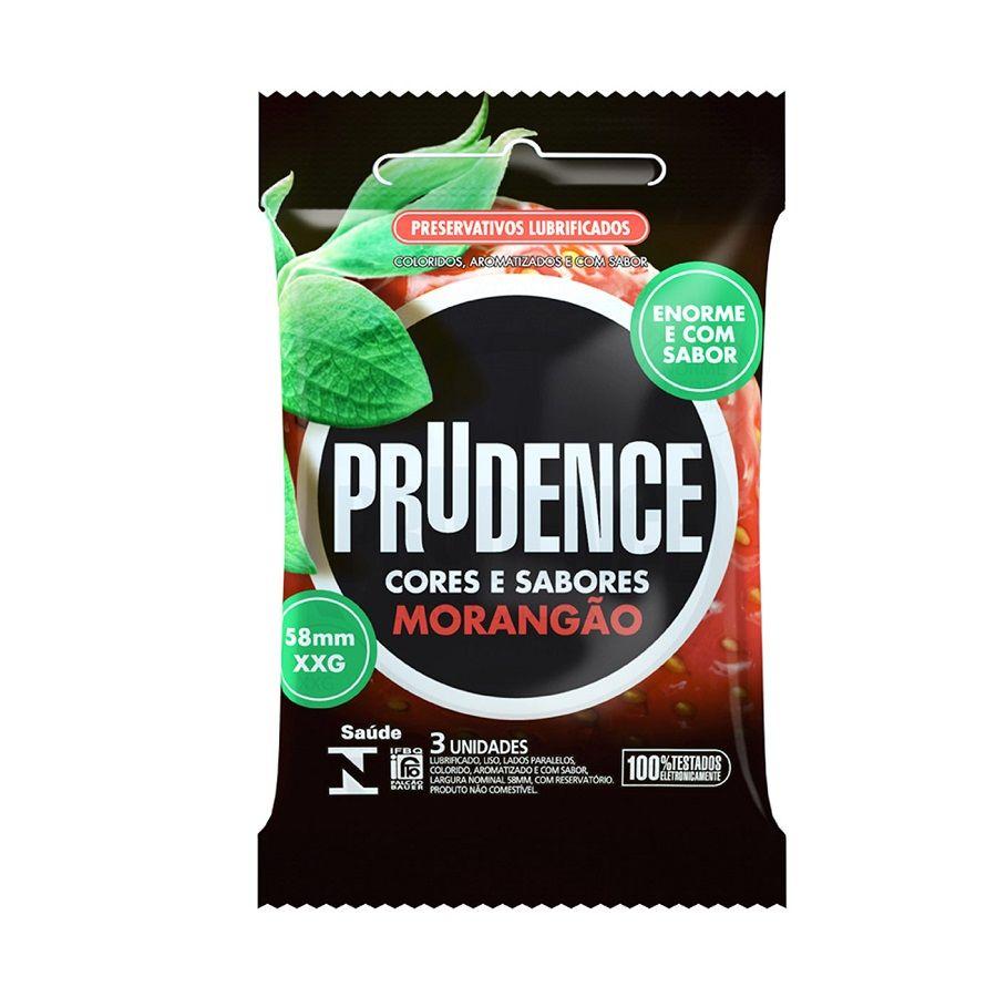 Preservativo Morangão XXG com 3 unidades - Prudence