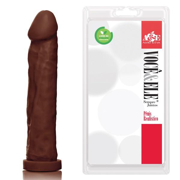 Prótese Gigante Maciça 27,5 cm x 5,5 cm Marrom - Adão & Eva