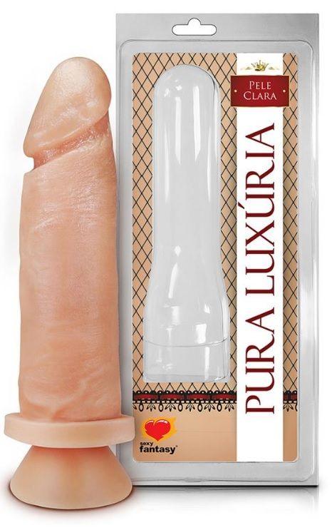 Prótese Maciça com Ventosa 17,0 cm x 4,3 Pele Clara -Sexy Fantasy