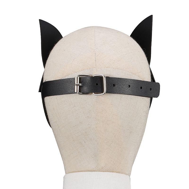Sado Mascara Mulher Gato em Couro Sintético