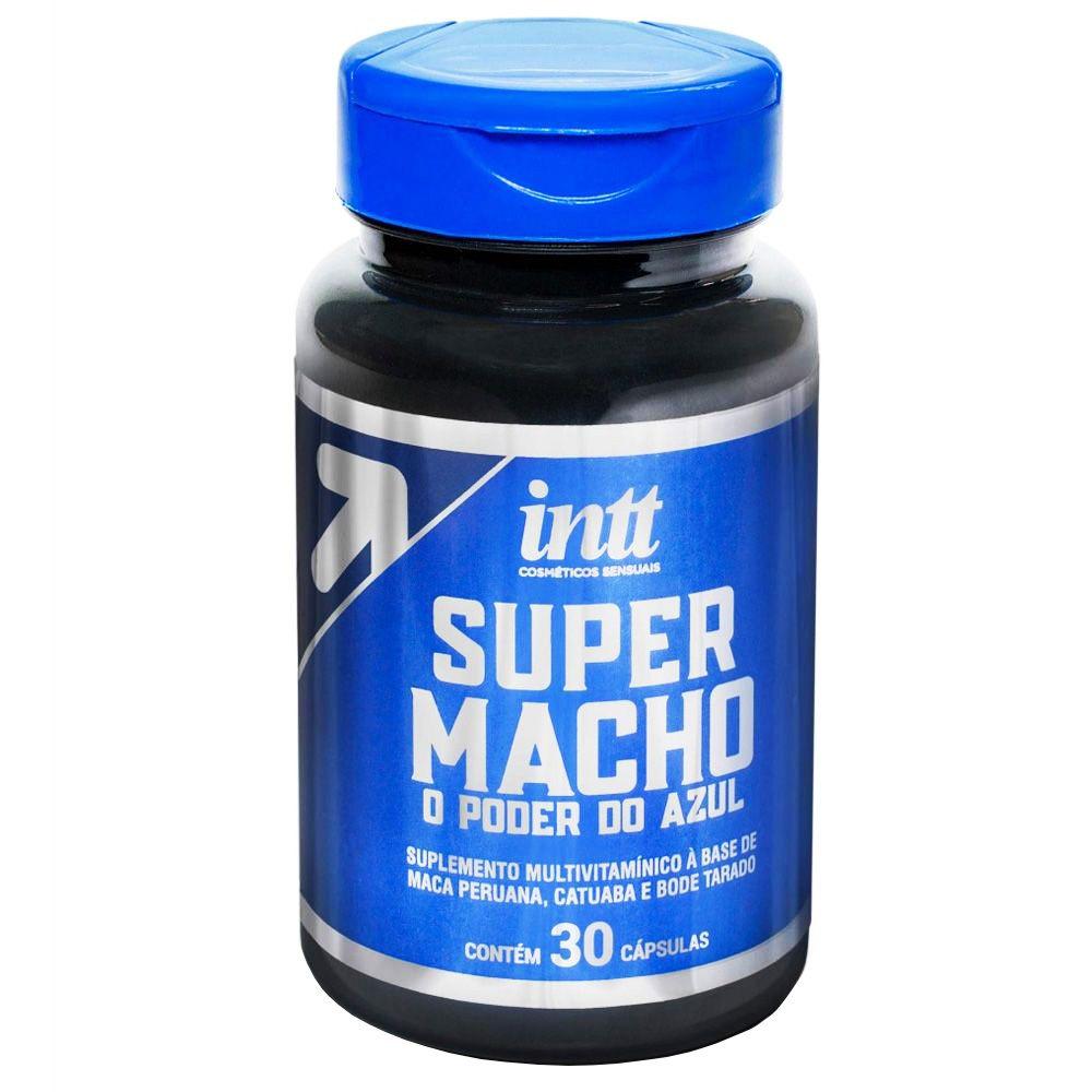 Suplemento Energético Super Macho 30 Cápsulas - Intt