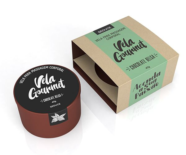Vela de Massagem Chocolate Belga - Adão e Eva