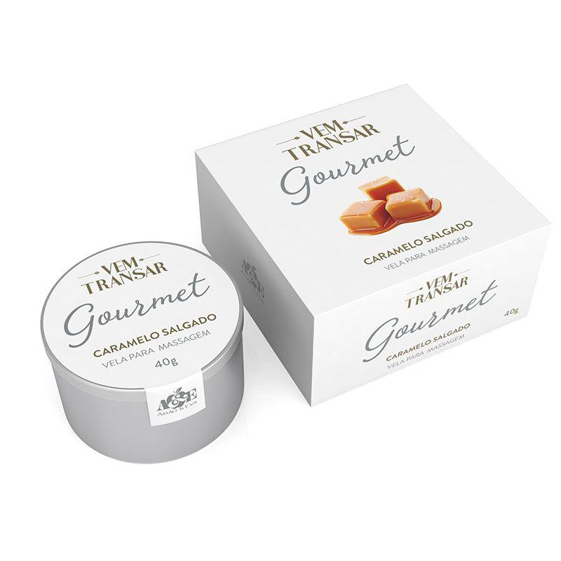 Vela de Massagem Gourmet Caramelo Salgado - Vem Transar