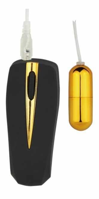 Vibrador Bullet Victory Mini Capsula Dourada