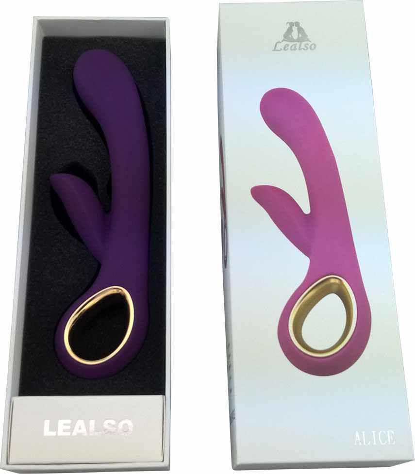 Vibrador de Luxo com Estimulador Clitoriano Roxo - Lealso