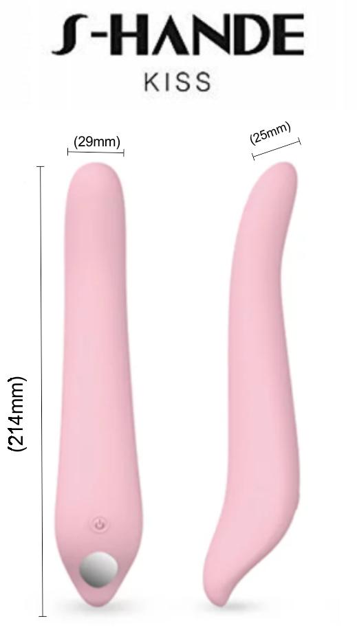 Vibrador de Ponto G Kiss Recarregável Rosa - S-Hande