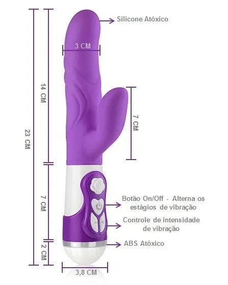 Vibrador Double Silicone Rotation New Orgasm Lilás- A Sós