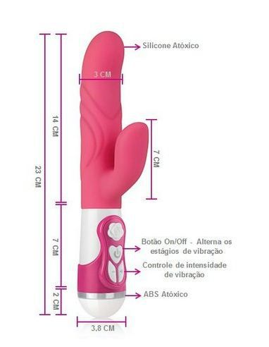 Vibrador Double Silicone Rotation New Orgasm Rosa - A Sós