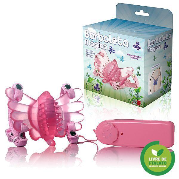 Vibrador Mini Borboleta Mágica Rosa - Adão e Eva