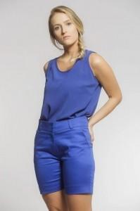 Bermuda Social Feminina Sarja Azul Bic