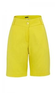 Bermuda Social Feminina Sarja Amarelo Canário