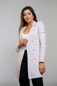 Blazer Alongado Tweed Cristal