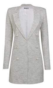 Blazer Alongado Tweed Diamante