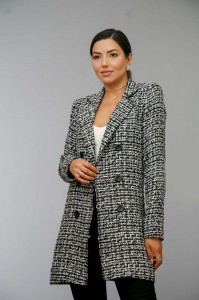 Blazer Alongado Tweed Onix